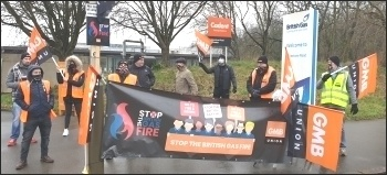 Leicester picket on the 21st strike day (22nd Feb) of around 7,000 British Gas engineers.  They are fighting against