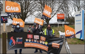 British Gas strike Leicester February 2021, photo Steve Score