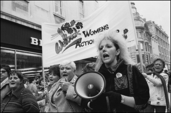 Women on the march during the 1984-85 miners' strike