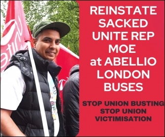 Reinstate sacked rep Moe at Abellio London buses