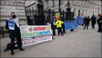 NHS workers and supporters protest in London 7 March, photo Max B