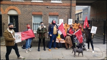 Goodlord picket line 8 March, photo James Ivens