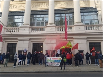 Sparks protest in London 17 March, photo Isai Priya