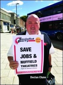 Declan Clune campaigning in Southampton, Photo: Southampton SP