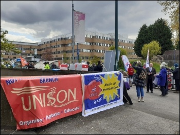 Nottingham NHS protest 1 May 2021, photo Jon Dale