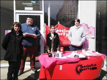 Election campaigning in Newton Abbot, Devon, May 2021