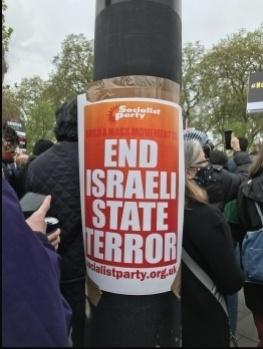 Stop war on Gaza demo, London 15th May 2021, photo JB