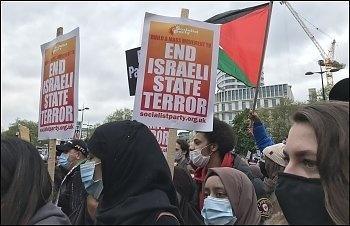 Stop war on Gaza demo, London 15th May 2021