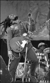 Bob Marley in concert in Dublin, 1980. Photo: Monosnaps/CC