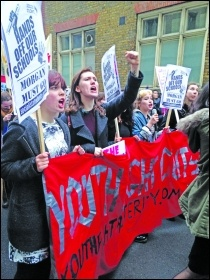 Socialist Students join protests against academisation in 2016. Photo: London SP
