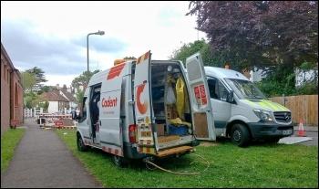 Cadent gas worker's van Photo: Philafrenzy