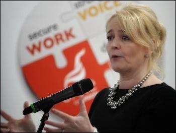 Sharon Graham, photo Unite