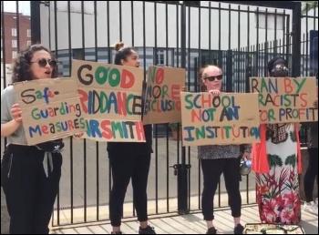 Parents protest at Pimlico
