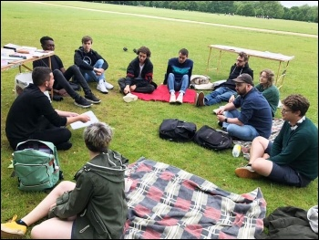 Young Socialists discuss in Hyde Park