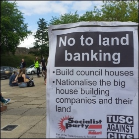 Socialist Party placard in York. Photo: Yorkshire Socialist Party