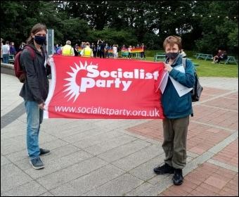 Socialist Party members at Loughborough university pride