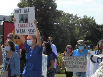 NHS staff protested