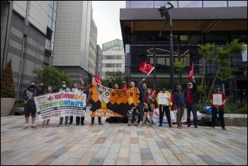 St Mungo's 12 week strike rally, photo Paul Mattsson