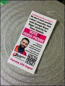 Hugo Pierre election leaflet