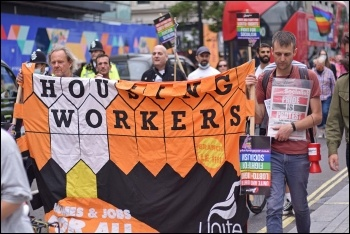 Unite Housing workers' branch organises workers in the sector. Photo: Mary Finch