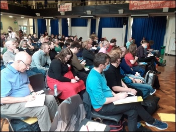 Many attended their first nationwide meeting as Socialist Party members, photo Iain Dalton