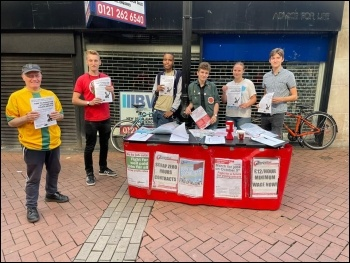 Students at Birmingham City University joined the Socialist Party campaigning in the city centre