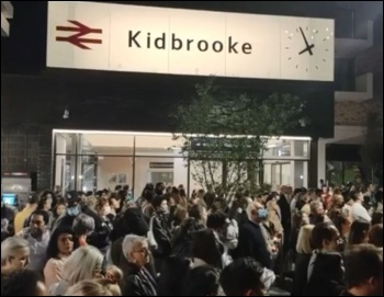 Thousands attended a vigil for Sabina Nessa in Kidbrooke, south London