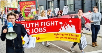 Marching in Cardiff on Saturday 9 October