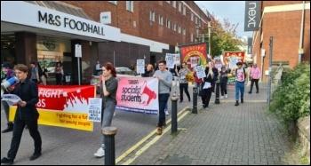 YFJ march in Swansea, 9.10.21