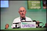 Roger Bannister at Unison conference