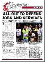 Socialist Party PCS strike leaflet cover