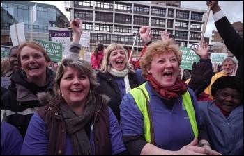 Defend Whittington Hospital Campaign demonstration, photo Paul Mattsson