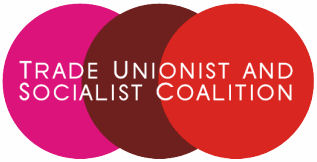 Trade Unionist and Socialist Coallition logo