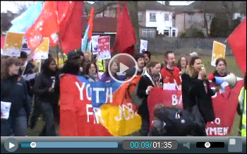 Youth Fight for Jobs demo in Barking, photo Socialist Party