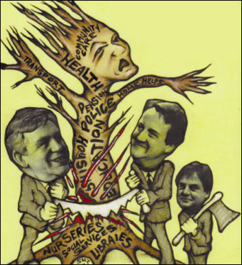 Detail from Socialism Today cover - cartoon by Suz