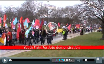 Barking Youth Fight For Jobs demo part two