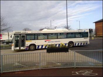 Britsih Airways cabin crew strike: BA staff bus empty of scab crew