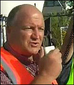 Bob Crow, RMT general secretary speaks to Vestas wind turbine workers occupying to protest against redundancies, pic: RMT television