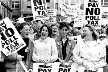 Poll Tax protests in Scotland 1989, photo Steve Gardiner
