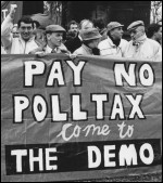 Poll Tax protests in Scotland 1989