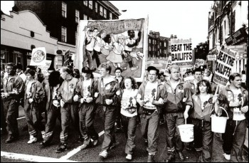 Poll Tax protests, photo Dave Sinclair