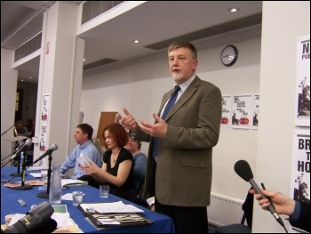 Dave Nellist also attended the national TUSC Launch rally in London, photo Alison Hill