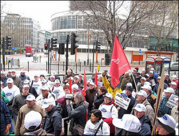Visteon / Ford UNITE pension protest in London 31.03.10, photo by The Other Bailey, flickr