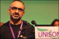 Onay Kasab, TUSC candidate for Greenwich, photo Paul Mattsson
