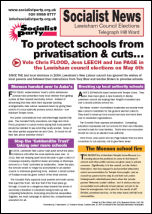 Lewisham Socialist Party Education newsletter
