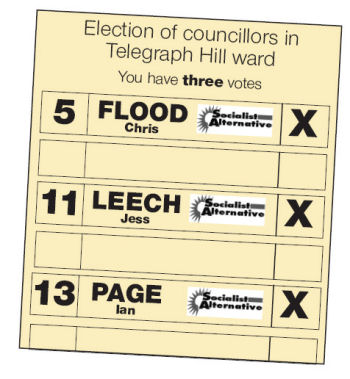 Vote Chris FLOOD, Jess LEECH and Ian PAGE