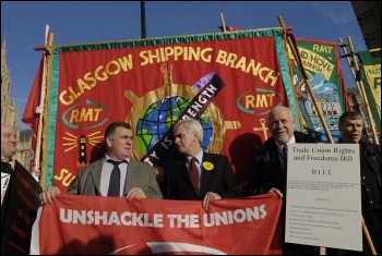 The RMT and POA call on parliament to unshackle the unions, photo Paul Mattsson