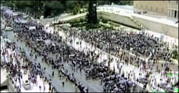 Greek workers take to the streets