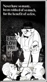 Tory Prime Minister Margaret Thatcher, cartoon by Alan Hardman