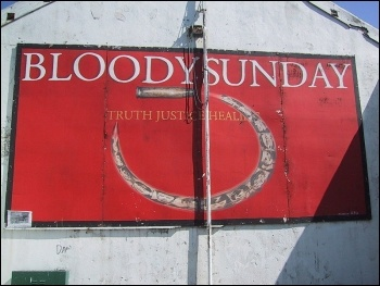 Bloody Sunday Mural in Derry, Northern Ireland, photo by J�r�me Sautret